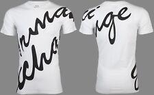 Armani Exchange Mens S/S T-Shirt SCRIPT Designer WHITE BLACK Casual S-2XL $50