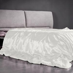 100% Maulbeerseide Seide Bettbezug Weiß Deckenbezug 22 Momme Seide Bettwäsche