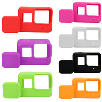 7 Color Camera Lens Cap Cover + Silicone Housing Case Protector For Gopro Hero 5
