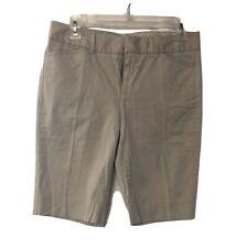 GAP Tan on Tan Striped Women's Bermuda Shorts Size 1 Stretch