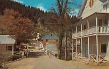 Downieville California Riverside Motel Bridge Street View Postcard K91212