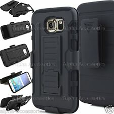 Shock Proof Defender Rugged Heavy Duty Armor Tough Hard Case Cover Wth Belt Clip