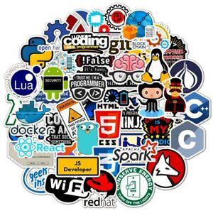 50pc Developer Programming Sticker Java Php Linux Bitcoin Ubuntu Geek For Laptop