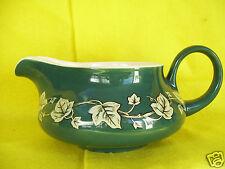 Harker Pottery Vintage Creamer Or Gravy Boat Green with Grape vine deco