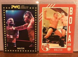 WALTER 2017 & 2018 PWG BOLA 2 Card Lot WWE NXT