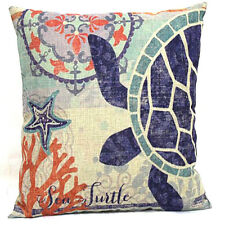 "Sea Turtle Throw Pillow Case Decorative Cushion Cover Blue Ocean Series 18 ""X18"""