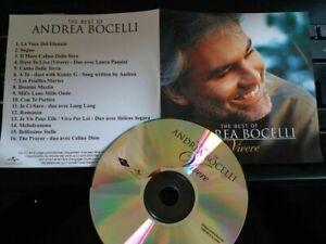 ANDREA BOCELLI PROMO CD FRANCE  VIVERE  CELINE DION LAURA PAUSINI HELENE SEGARA