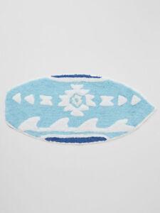 NEW Wave Surf Design 100% Woven Cotton Pile Floor or Door Mat