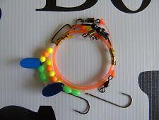 Sea fishing Rig - 2 hook flatty flapper - Dab, Plaice, Sole, flounder sz1 hook