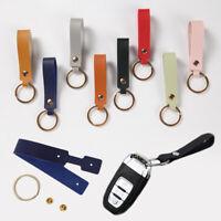 PU Leather Strap Keyring Keychain Car Key Chain Ring Key Fob Key Holders Decor