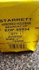 "Starrett #65534  Arbored Hole Saw 3""  76mm Bear Cat"