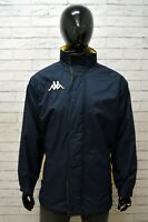 Giubbotto Parka Blu Uomo KAPPA Taglia XL Giubbotto Jacket Man Giacca Sportiva