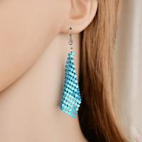Fashion Women Geometry Tassel Earrings Long Hook Dangle Ear Stud Jewelry