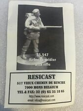 Resicast 1/35th WW2 British 1st Airborne Division Soldier Rifle Resin Figurine 2