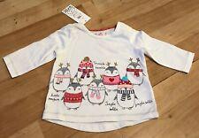 Baby-Navidad-Carol cantando Camiseta - 3-6 meses-Nuevo