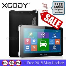 7 Inch Truck Car GPS Navigation System 8GB LGV SAT NAV Free UK EU Map XGODY 704