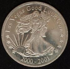 2000-2001 Good Luck Token Silver Dollar Size Brilliant Uncirculated