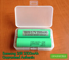 2x SAMSUNG 18650 25R 2500mAh 20A HighDrain Rechargeable Battery for Vape Mods
