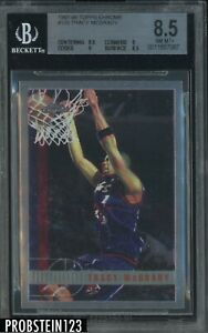 1997-98 Topps Chrome #125 Tracy McGrady Raptors RC Rookie HOF BGS 8.5 NM-MT+