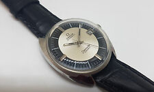 NOS VINTAGE OMEGA SEAMASTER COSMIC SILVER&BLACK DIAL DATE AUTO MAN'S WATCH