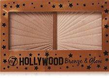 W7 Hollywood Bronze & Glow Duo Highlighter Bronzing Pressed Powder