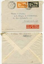 FRENCH INDOCHINA VIETNAM 1950 AIRMAIL STAMPS COVER…SAIGON RP