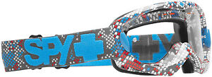 SPY OPTIC ALLOY SE GOGGLES Color WHITE with COLORED SCALES