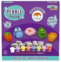 Large Pebble Painting Kit Childrens Creative Art Craft Activity Gift Set Kids