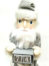 Bloomindale's Christmas Countdown Advent Silver Santa Nutcracker New with Dice