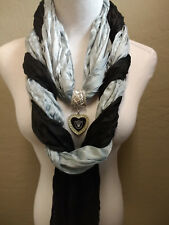 The Ultimate Oakland Raiders Licensed  Jewelry Scarf Combo