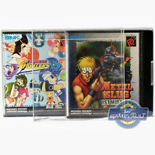 5 x NEO GEO Pocket Game Box Protectors STRONGEST 0.5mm PET Plastic Display Case