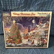 WHITE MOUNTAIN #1287 1000 PC PUZZLE VILLAGE CHRISTMAS TREE - Brand New Sealed