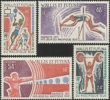 More details for wallis & futuna 1971 sports/basketball/archery/weightlifting/games 4v set n33153