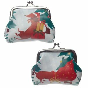 Dachshund Through The Snow Christmas Tic Tac Purse Dog Dogs Stocking Filler Gift