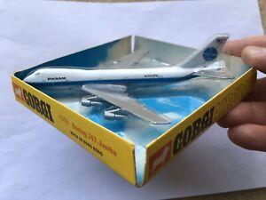 C1973-77 VINTAGE CORGI TOYS No1315 'PAN-AM' BOEING 747'JUMBO MINT BOXED AIRCRAFT