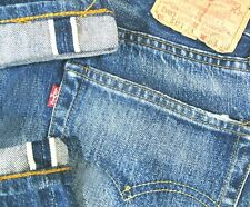 *HOT VINTAGE LVC Men's USA LEVI'S 501 BIG E 555 DISTRESS Jeans 30x30 (Fit 28x30)