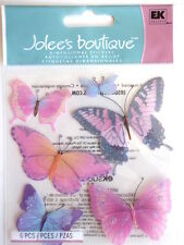 Jolee's Boutique Pegatinas-Mariposas Rosa/Púrpura