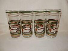 Set of 4 Libbey Life Styles Mallard Duck 15oz Tumblers Crystal Glasses 22 kt NIB
