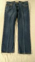 Levi's 505 Jeans Mens 40X30 Blue Regular Fit Straight Leg Cotton Medium Washed
