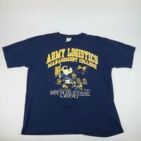 Vintage 70s Army Logistics College Single Stitch Snoopy T Shirt XL Made in USA