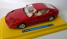 BURAGO 1:25 MADE IN ITALY AUTO DIE CAST FERRARI 456 GT 1992 ROSSO ART 0136 USATO