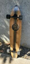 "New listing Ten Toes Bamboo Longboard 44"" Long Skateboard Deck Board New In Box Black"