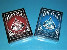 1 SET 2 - Decks Bicycle Apollo Playing Cards in Blue & Red