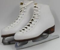 Riedell Women's Ladies White Athletic Figure Ice Skating Skates Model 12W Size 3