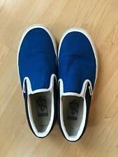 VANS UNISEX CLASSIC SLIP ON SHOES BOYS 6.0 WOMENS 7.5 BLUE