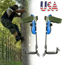 Tree Climbing Spike Set Safety Belt Lanyard Rope Rescue Belt 2gears For Climbers