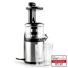 KITCHEN SLOW JUICER VEGETABLE FRUIT JUICE PULP EXTRACTOR STEEL MACHINE- SILVER