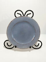 """Pier 1 Toscana Blue Salad Dessert Plate Hand Painted Earthenware Italy 8.5"""" Dia"""