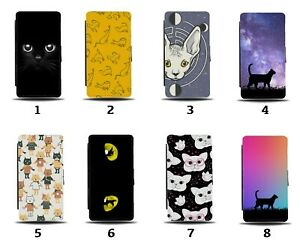 Cat Flip Wallet Case Cats Black Kitten Kittens Eyes Pet Cartoon Gift Photo 8013a