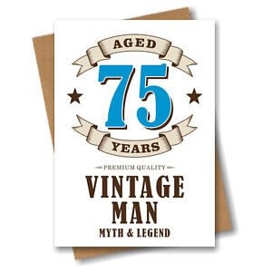 75th Birthday Card for Men Dad Grandad Uncle Husband Brother - Aged 75 Years